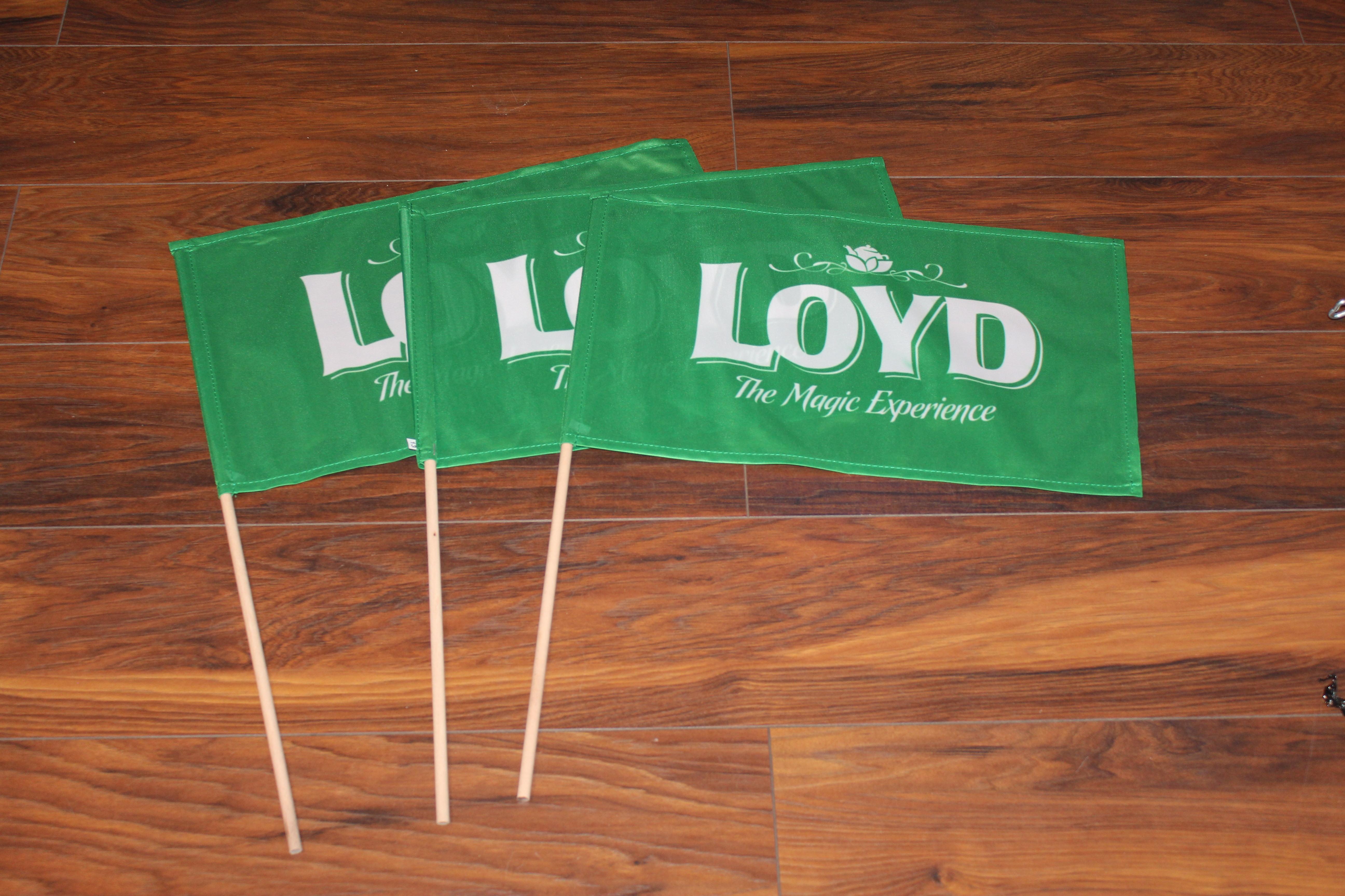 flagi z patyczkiem