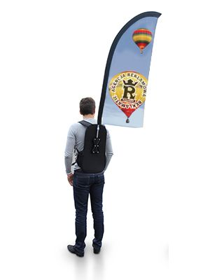 flagi z plecakiem -typ Feather- REKLAMATIC