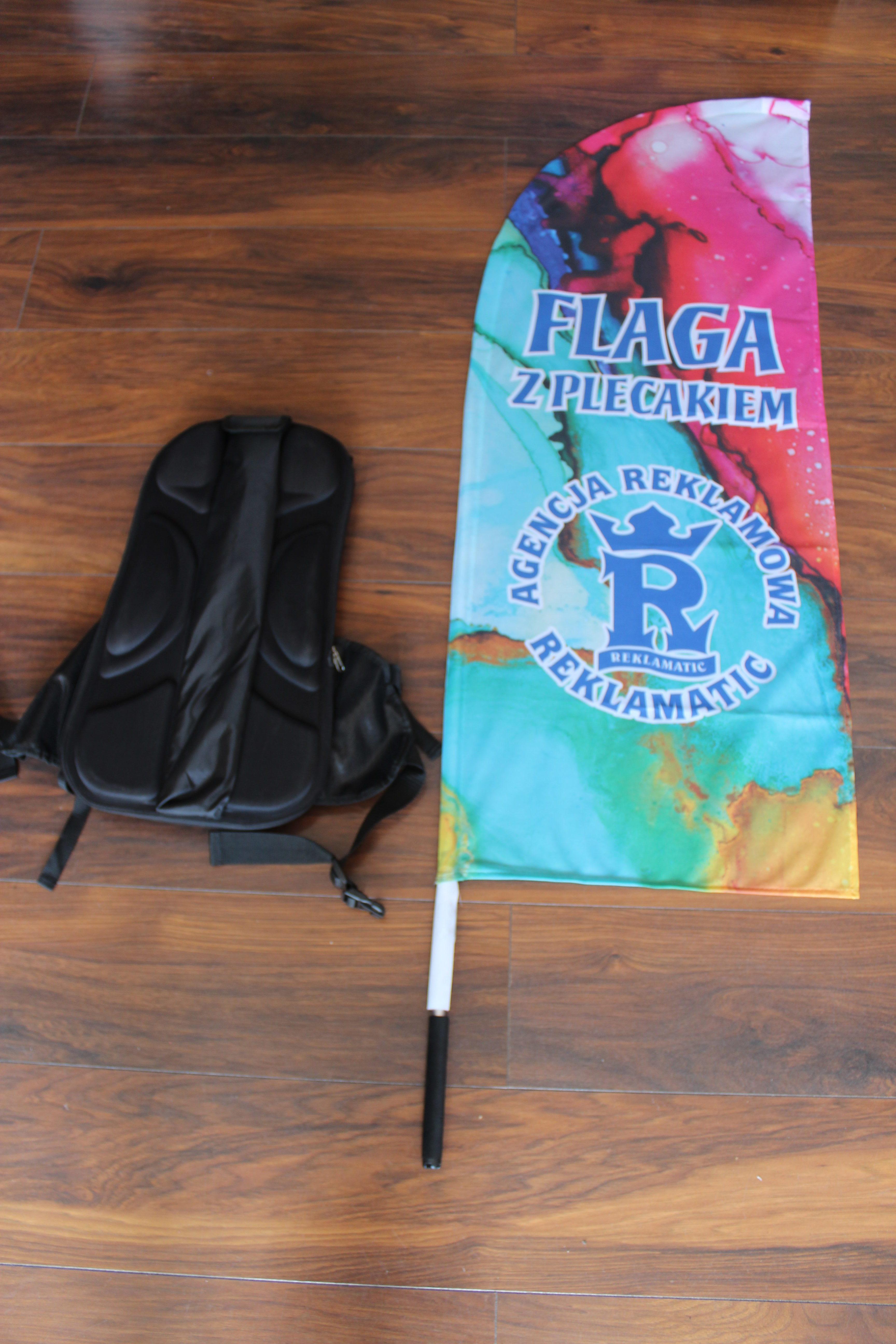 flagi reklamowe z plecakiem